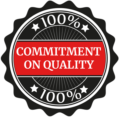 100% Commitment on quality